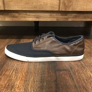 H&M Navy/Brown Leather Shoes, Mens size 8.5